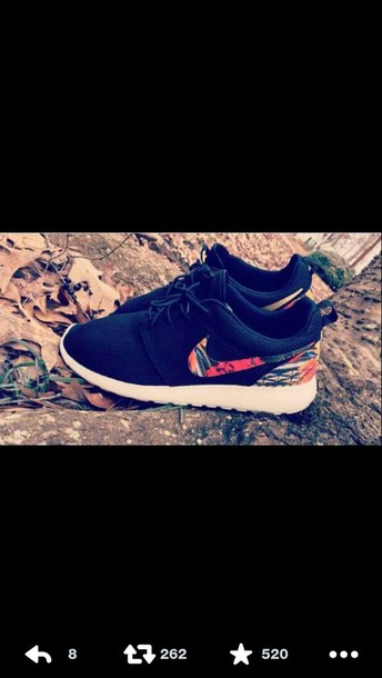shoes nike running shoes nike roshe run floral roshe runs roshes