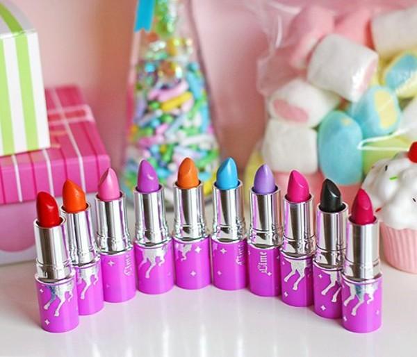 make-up lime crime lipstick make-up orange purple