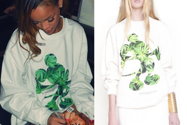 sweater rihanna mickey mouse