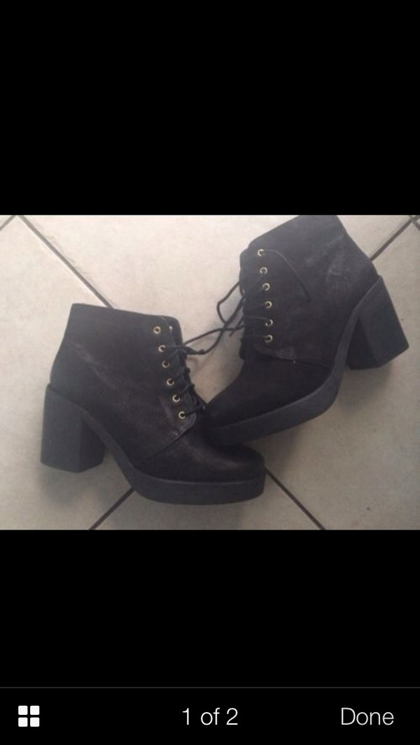 shoes high heels boots boots lace up ankle boots topshop