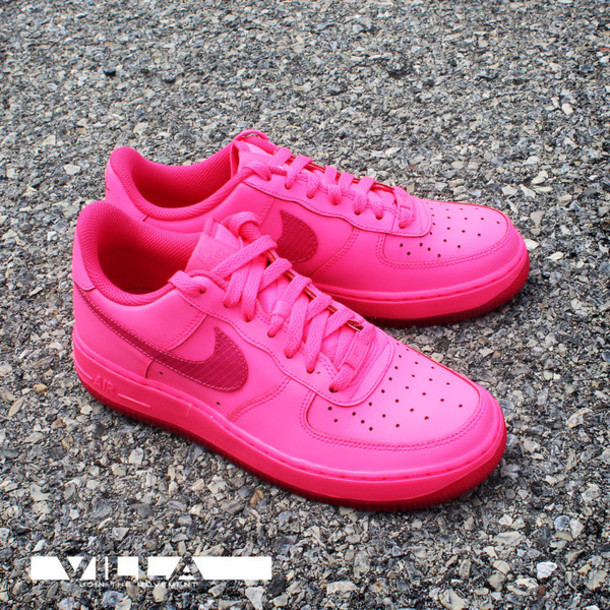 shoes nike air force 1 pink