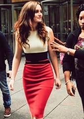 Red Panel dress as seen on Blair Waldorf. – PoppyAvenue.co.uk