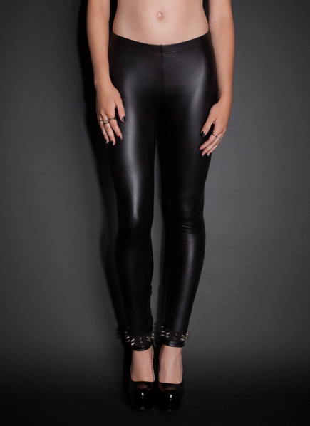 Studded Ankle Faux Leather Leggings | Bottoms
