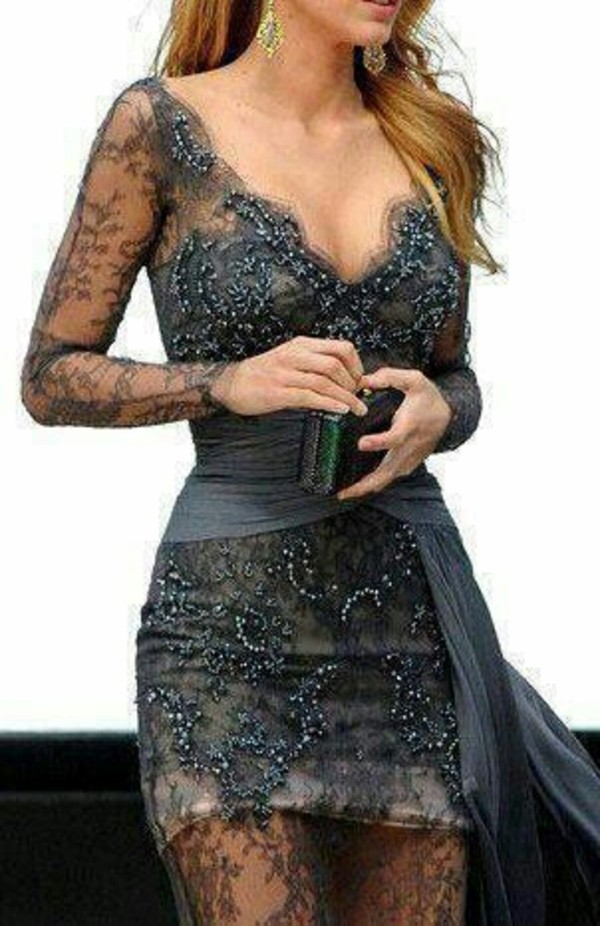 dress grey lace grey lace dress lace dress formal dress gown grey dress long prom dress prom dress serena van der woodsen