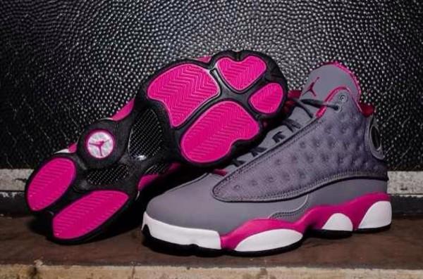 shoes jordans grey pink