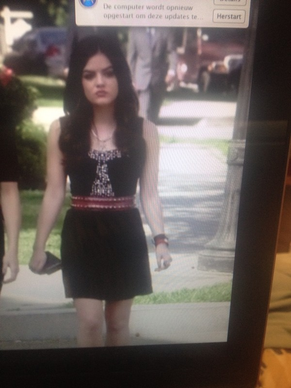 dress pretty little liars pretty little liars black aria red short glitter redbelt