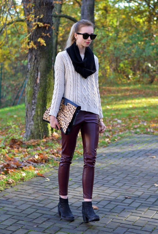 vogue haus sweater pants shoes bag scarf sunglasses jewels