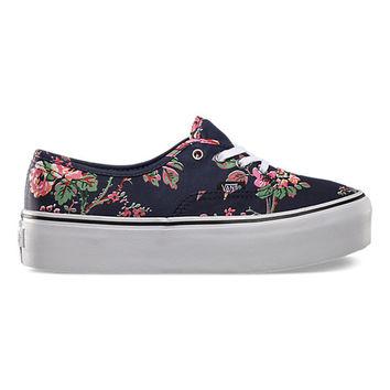 Authentic Platform Floral | Shop Shoes at Vans on Wanelo
