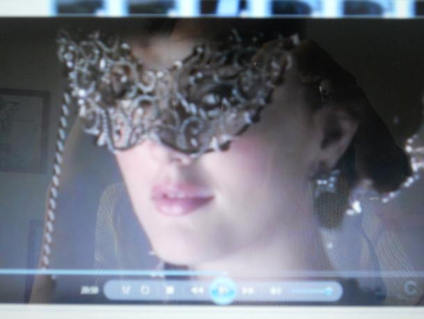 mask gossip girl blair leighton meester grey jewels jewels