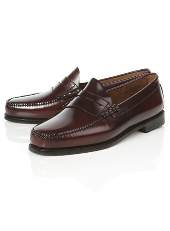 Bass Weejuns Burgundy 'Larson' Loafers - Dress Shoes - Shoes and Accessories - TOPMAN USA