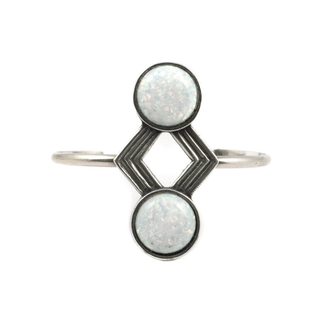 Paranoid Eyes Cuff / Antique Silver (view more colors) - The 2 Bandits