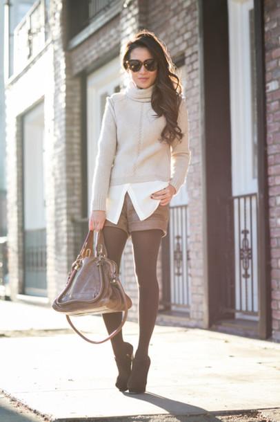 wendy's lookbook blogger sweater shirt bag sunglasses shorts