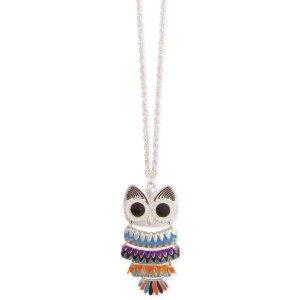 Amazon.com: Bright Enamel Owl Necklace: Jewelry
