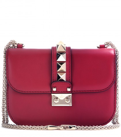 mytheresa.com -  Lock Small leather shoulder bag - Shoulder bags - Bags - Luxury Fashion for Women / Designer clothing, shoes, bags