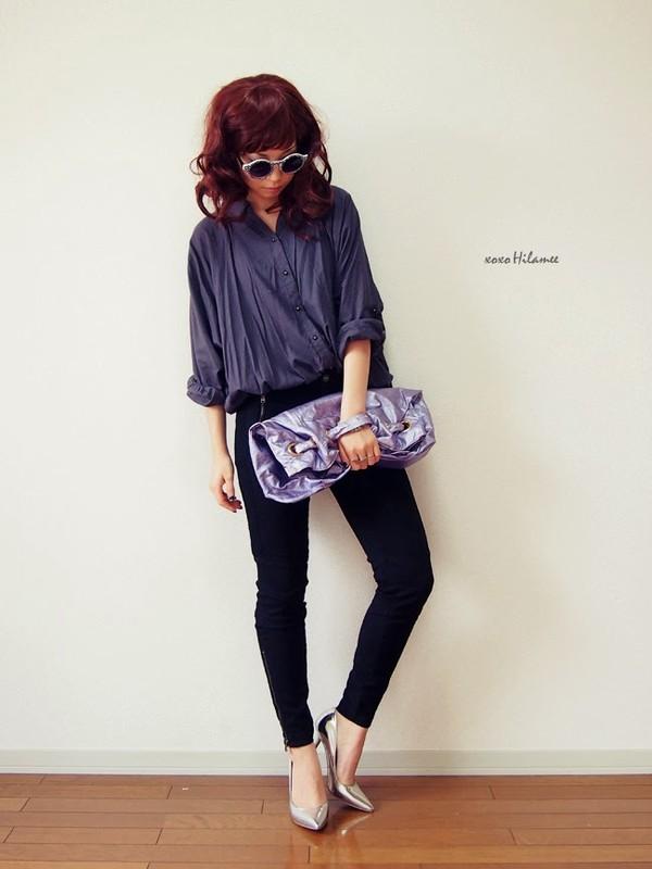 xoxo hilamee shirt pants shoes sunglasses bag jewels