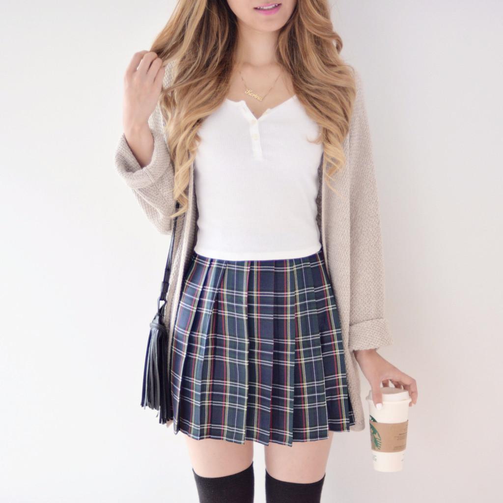 plaid skirt fuck