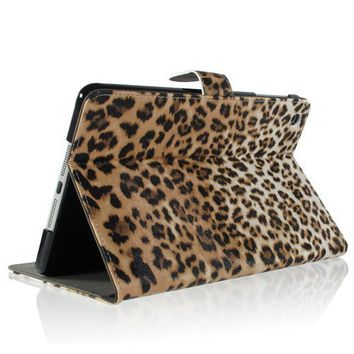 Amazon.com: ZuGadgets Brown / Leopard Animal Print Premium PU Leather Protective Skin Smart Stand Case Cover Wallet Folio for Apple iPad Mini (4240-1): Computers & Accessories on Wanelo