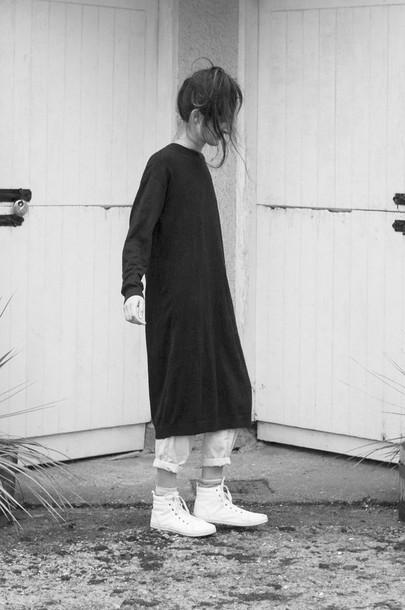froufrouu blogger sweater top minimalist dress
