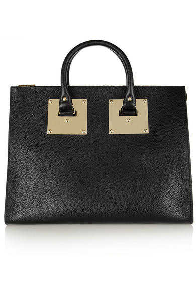 Sophie Hulme|Textured-leather tote|NET-A-PORTER.COM