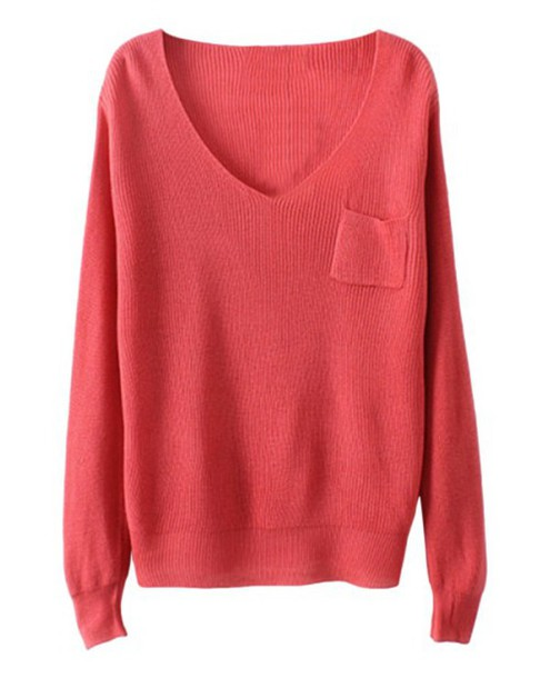 sweater pink pink sweater v neck v-neck sweater v neck v neck pocket sweater