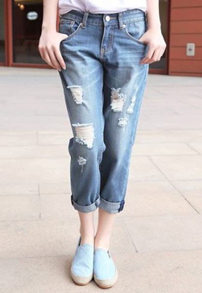OM Distressed BF Jeans | Outfit Made