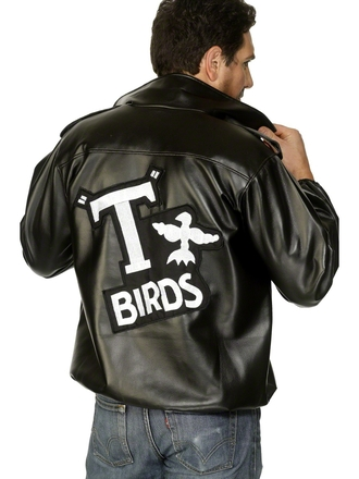 jacket grease danny zuko t birds vintage 50s style musicals leather jacket