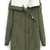 ROMWE | ROMWE Pocketed Drawstring Long Sleeves Army Green Coat, The Latest Street Fashion