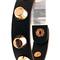 Black cuff - gold studded leather bracelet in | ustrendy