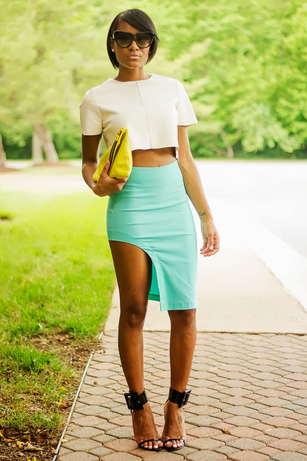 the daileigh t-shirt skirt bag sunglasses shoes