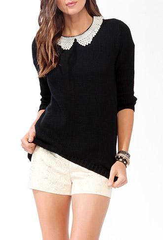 Cable Knit Back Sweater | FOREVER21 - 2031557332