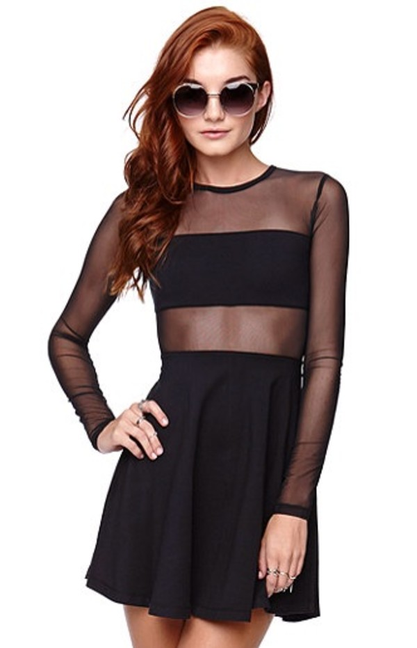 dress black little black dress tulle dress cute dress pacsun