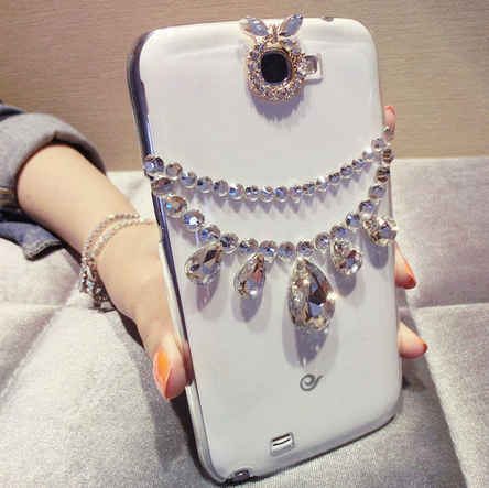 1PC New Bling Handmade Diamond Case Cover For IPhone 5 5s 5c 4 4s Transparent Shell Case For Samsung on Luulla