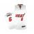 Adidas Miami Heat Lebron James #6 White NBA Jersey Red Black Number