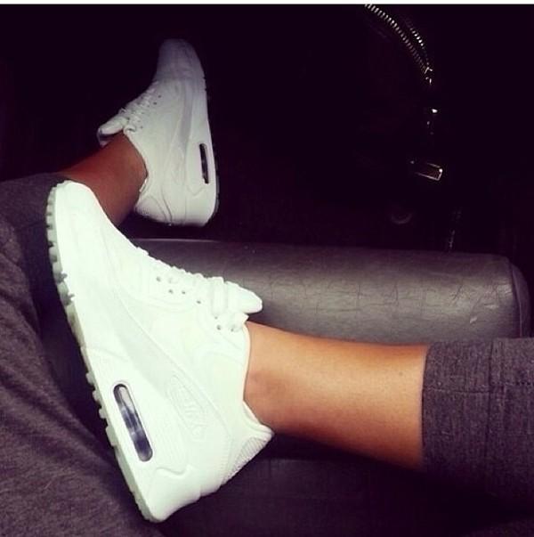 shorts white nike nike air nike air max 90 90s style nike sneakers pants shoes