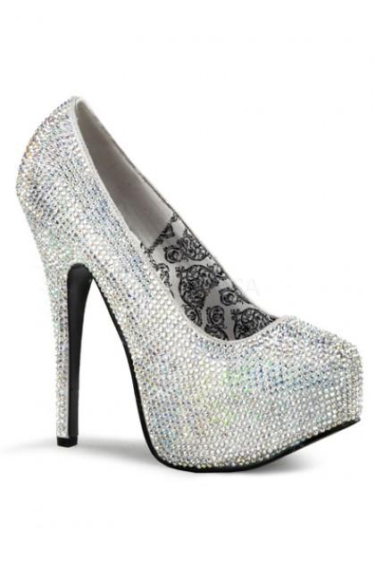 Silver Satin Rhinestone Platform Pump Heels @ Amiclubwear Heel Shoes online store sales:Stiletto Heel Shoes,High Heel Pumps,Womens High Heel Shoes,Prom Shoes,Summer Shoes,Spring Shoes,Spool Heel,Womens Dress Shoes,Prom Heels,Prom Pumps,High Heel Sandals,C