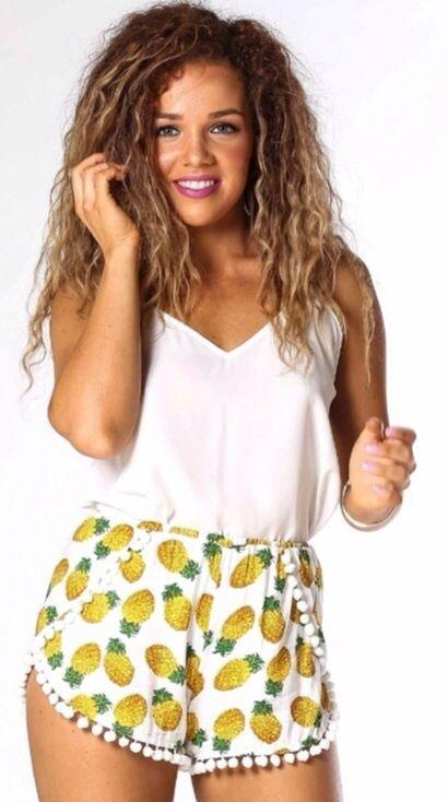 Pineapple shorts size 8, so cute!   eBay