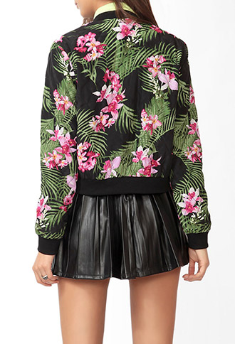 Tropical Print Jacket | FOREVER 21 - 2030187508