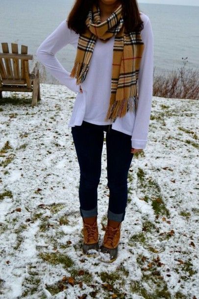 jeans dark blue skinny jeans boots scarf