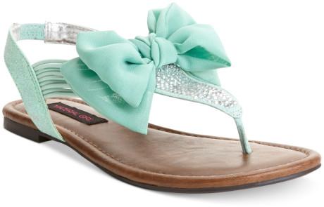 Material Girl Skylar Flat Sandals in Green (Mint)   Lyst