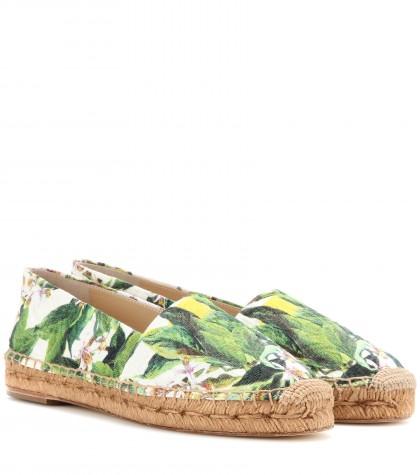 mytheresa.com -  Printed brocade espadrilles - Espadrilles - Shoes - Luxury Fashion for Women / Designer clothing, shoes, bags
