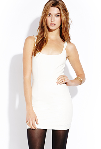 Simply Stated Faux Leather Dress | FOREVER21 - 2000126722