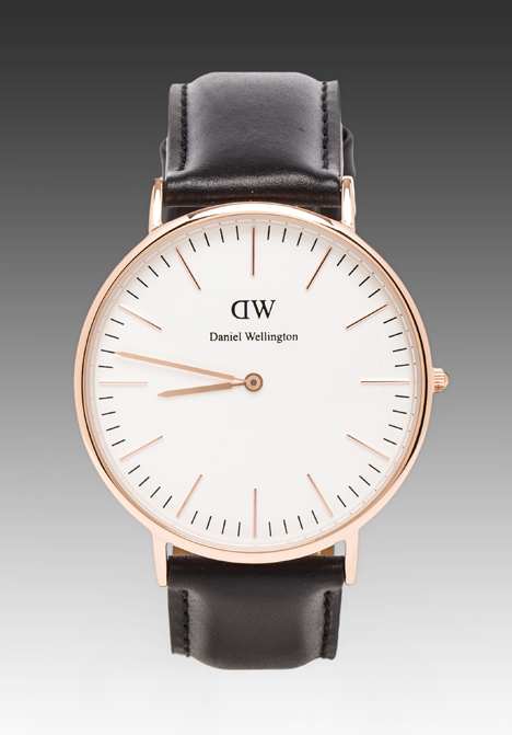 DANIEL WELLINGTON Sheffield 40mm in Rosegold at Revolve Clothing - Free Shipping!