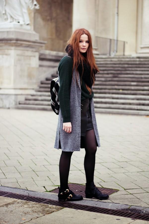 a pretty pass sweater jacket skirt shoes