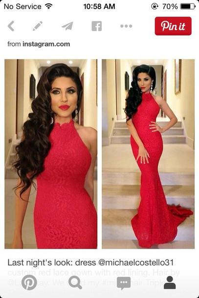 dress red dress leyla milani