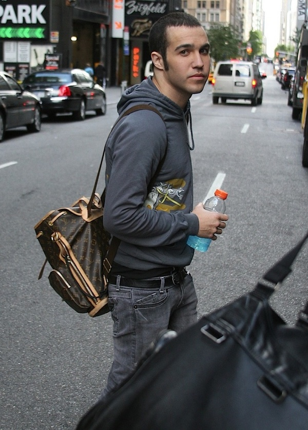 Pete Wentz in Louis Vuitton Bosphore Backpack  |  UpscaleHype