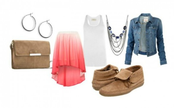 shoes shirt necklace high low skirt skirt