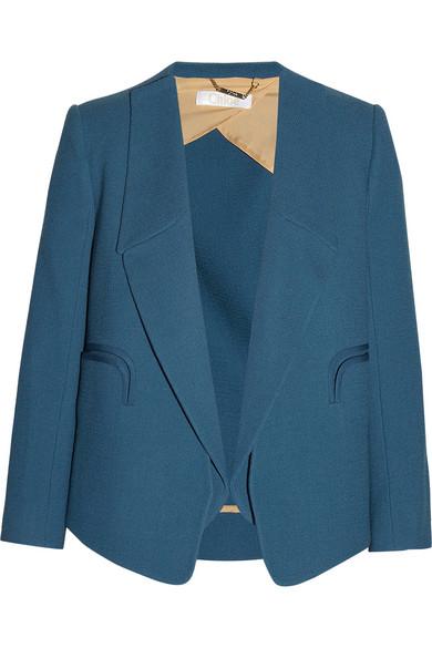 Chloé|Wool-crepe blazer|NET-A-PORTER.COM