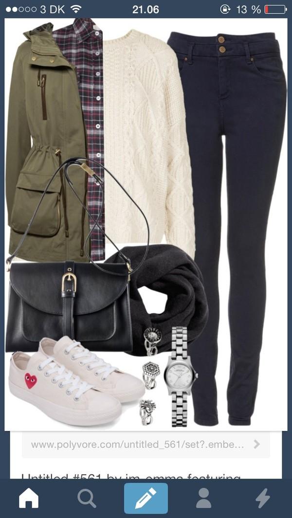 bag blouse jeans jewels coat shoes pants shirt