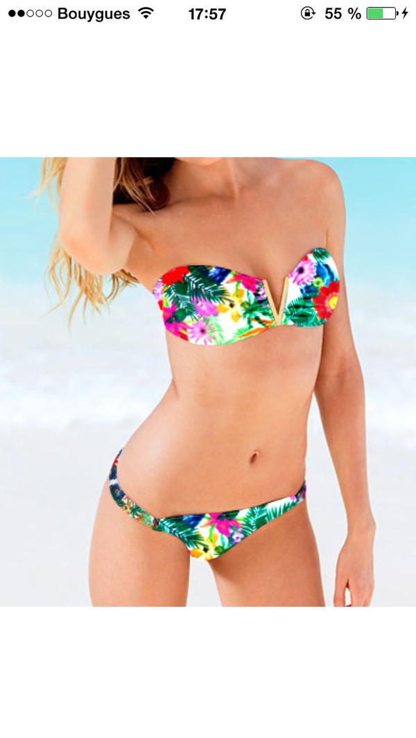 swimwear flowers colorful