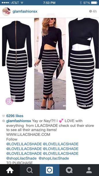 dress stripes striped shirt two-piece
